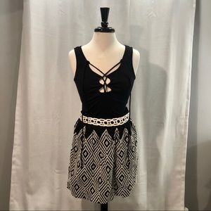 Free People Embroidered Skirt